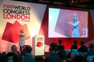 Lucy presenting at FIPP World Congress London